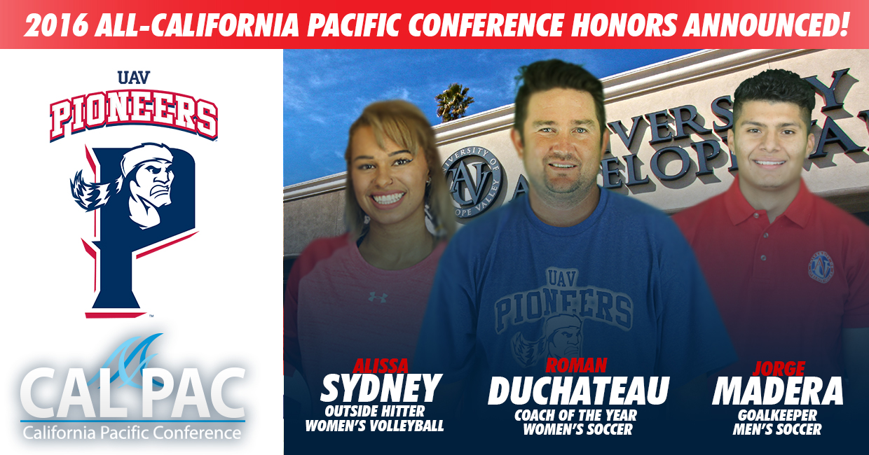 Photo for 2016 ALL-CAL PAC CONFERENCE HONORS ANNOUNCED!